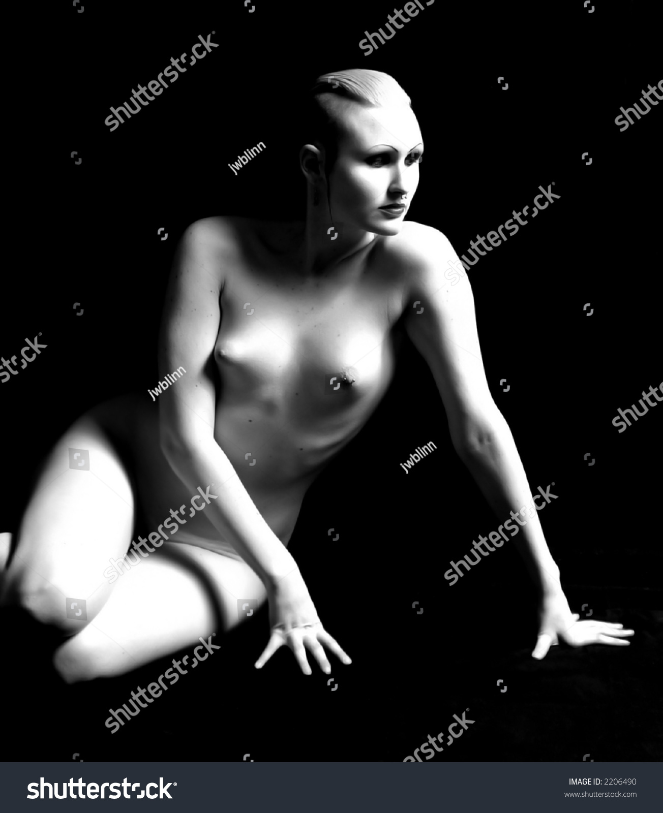 Beautiful 16 Year Old Girl Goth Stock Photo 6854467