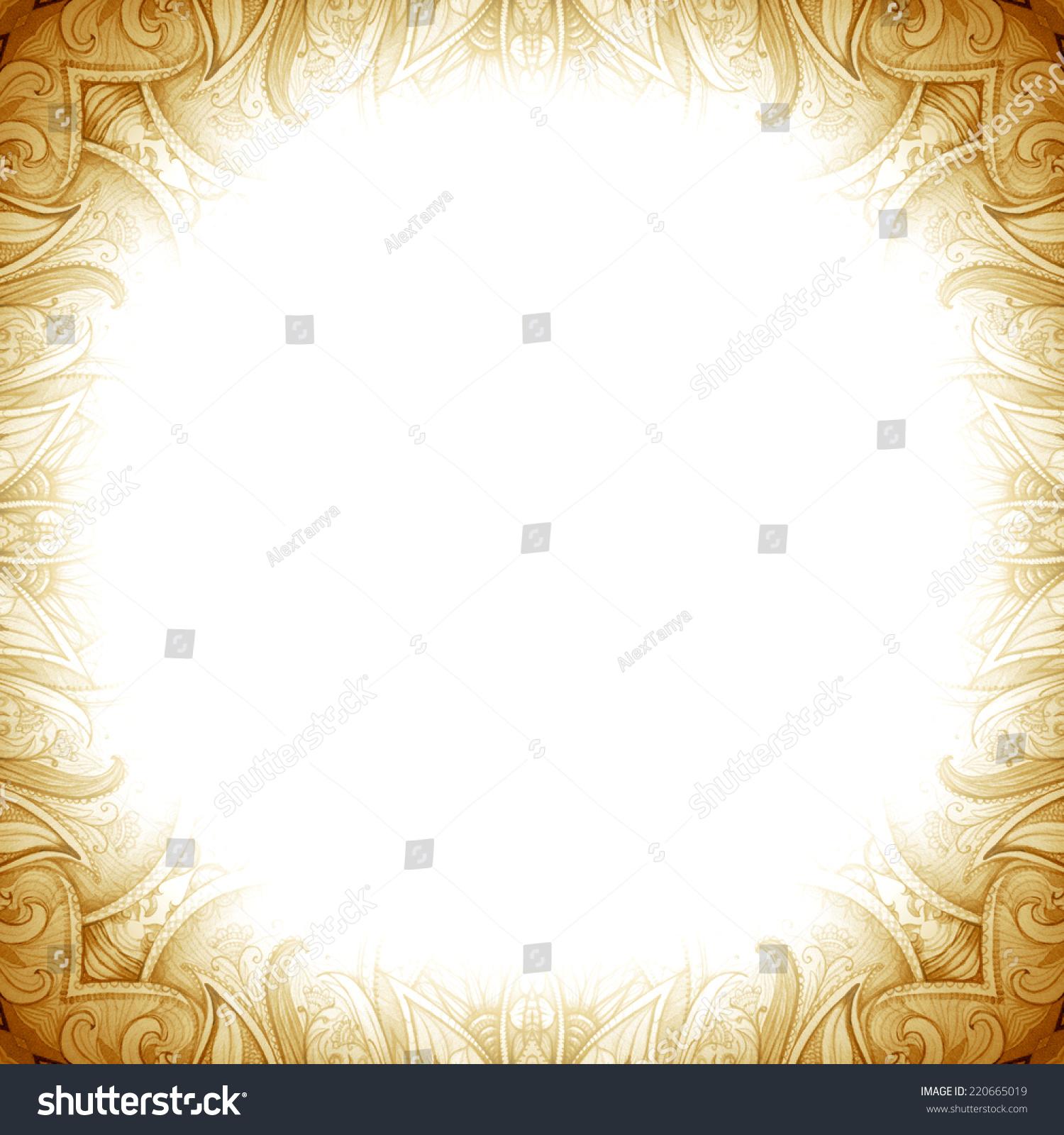 Retro Vintage Wedding Greeting Card Pattern Isolated On White Background Or Invitation
