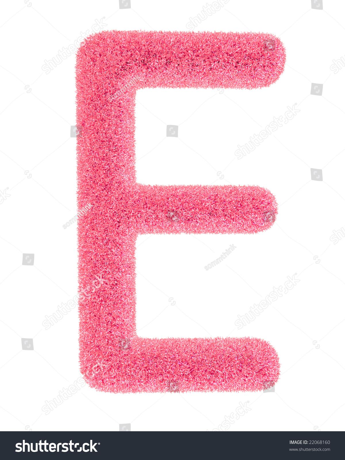 The letter E, in the alphabet Heart flower bush illustration set ...