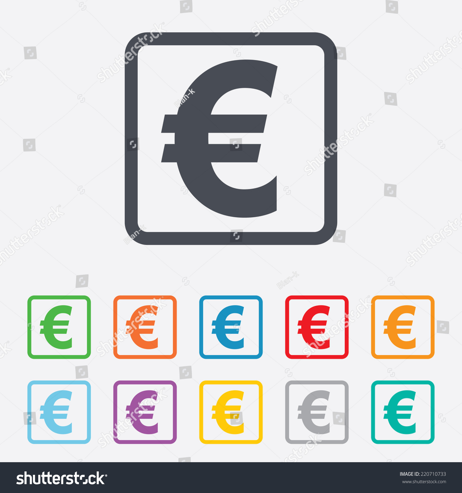 Euro sign icon eur currency symbol stock illustration 220710733 euro sign icon eur currency symbol money label round squares buttons with frame buycottarizona Gallery