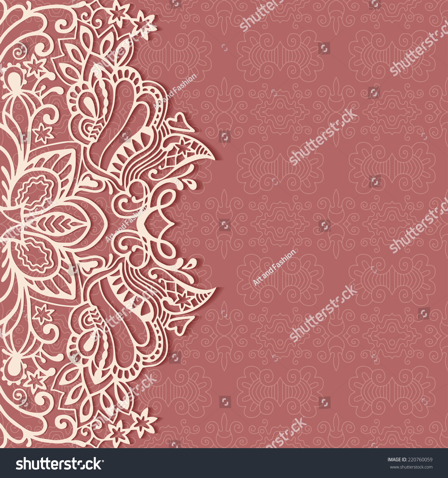 Abstract Background Wedding Invitation Greeting Card Stock Vector ...