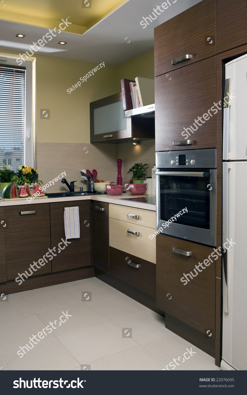 Small Kitchen In The Flat Stock Photo 22076695 Shutterstock