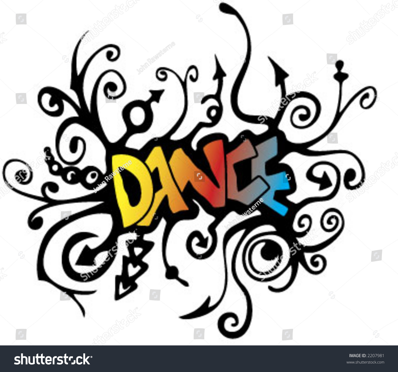 Dance graffiti style vector