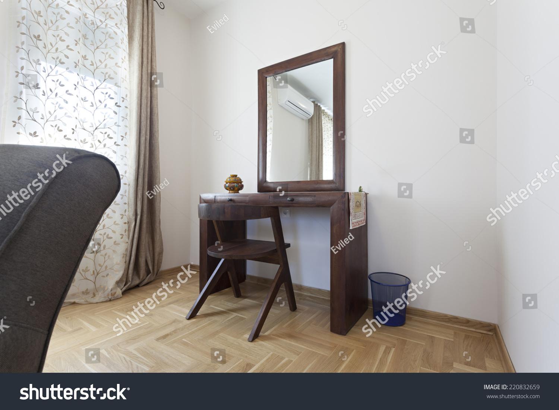 Bedroom Makeup Vanity Table Interiors Stock Image 220832659