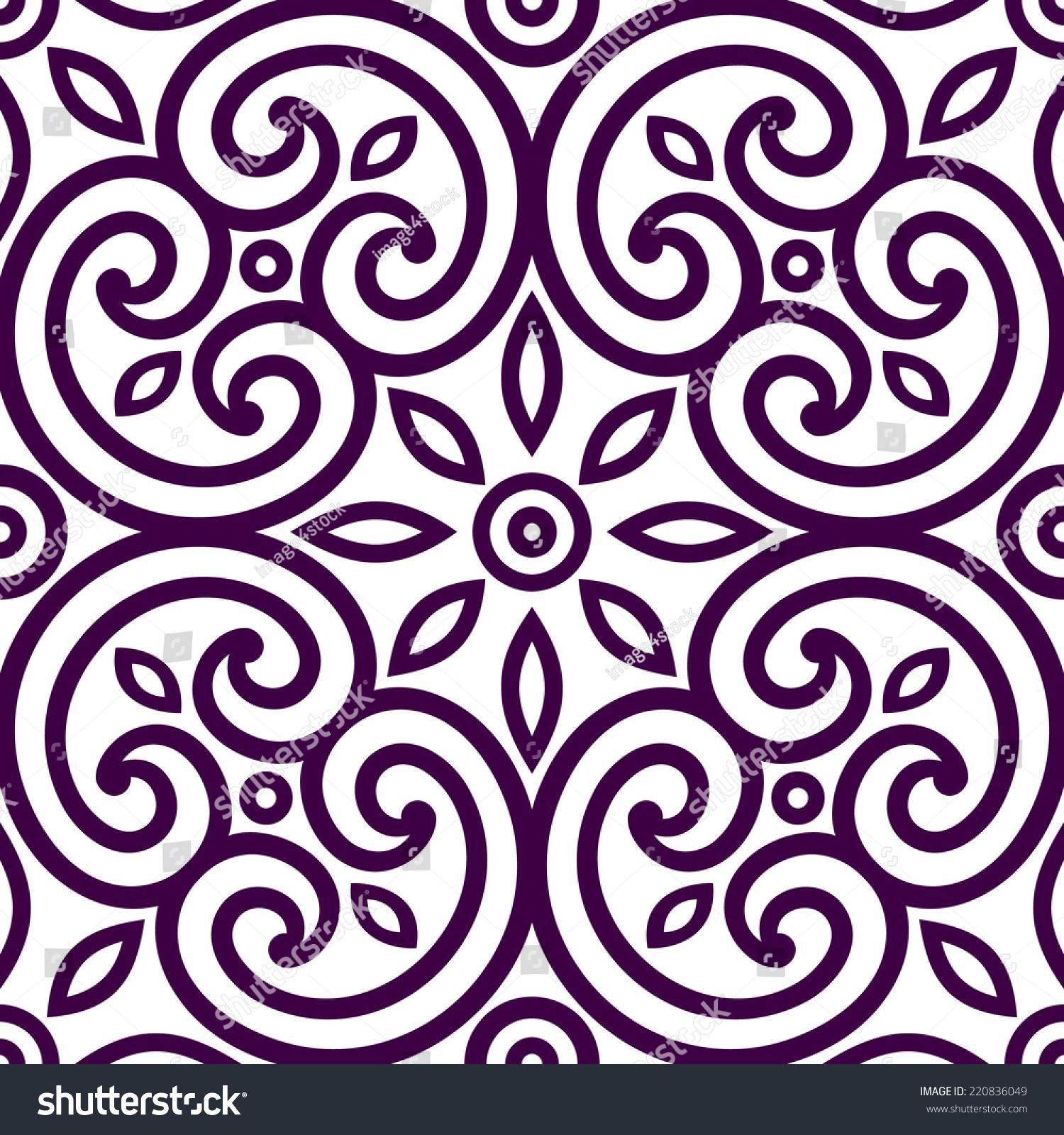 Italian Patterns Decorative geometric seamless ornament, tile of ...