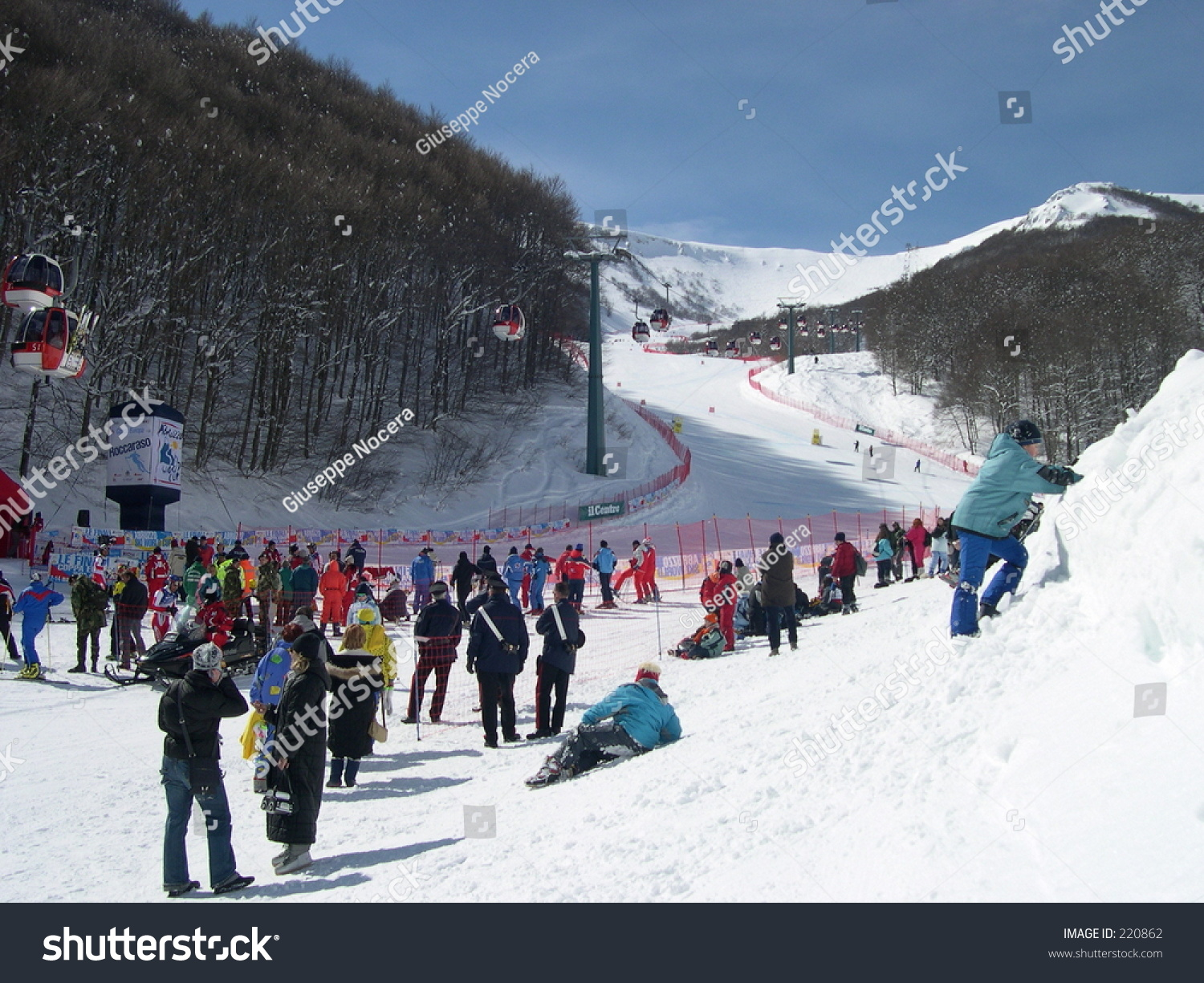italy roccaraso ski world cup stock photo (edit now) 220862