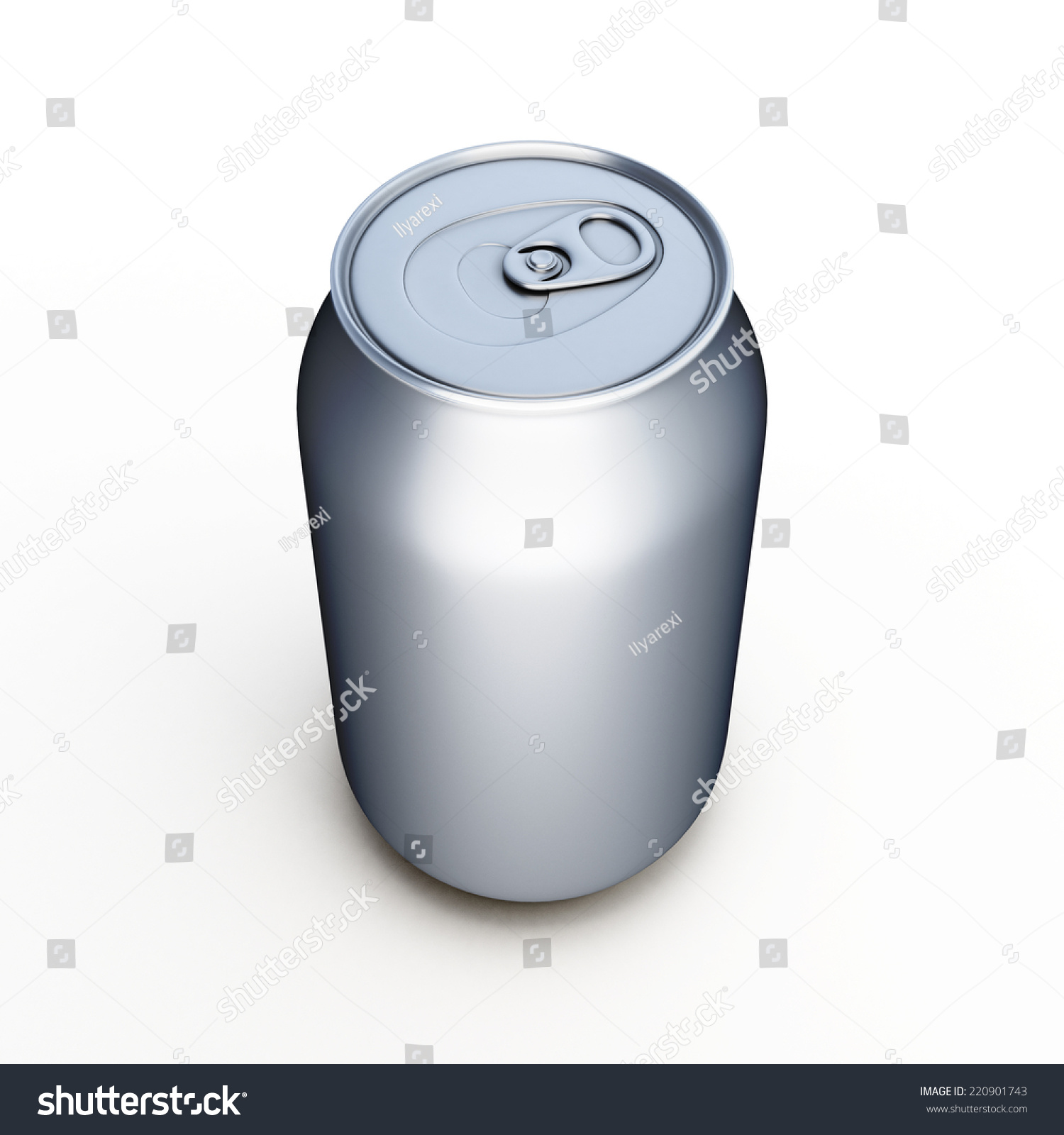aluminum beer can isolated over white stock illustration 220901743