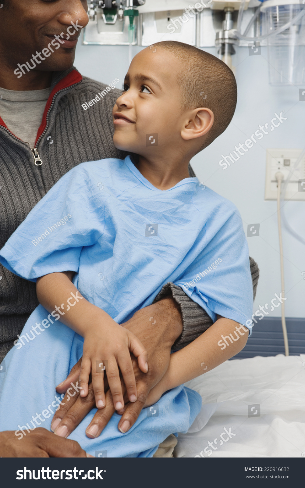 African Boy Hospital Gown Sitting On Stock Photo (Edit Now ...