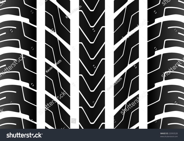 Stock Vector Alliesinteract 11211360: Seamless Tile Tire Tread Stock Vector 22093528