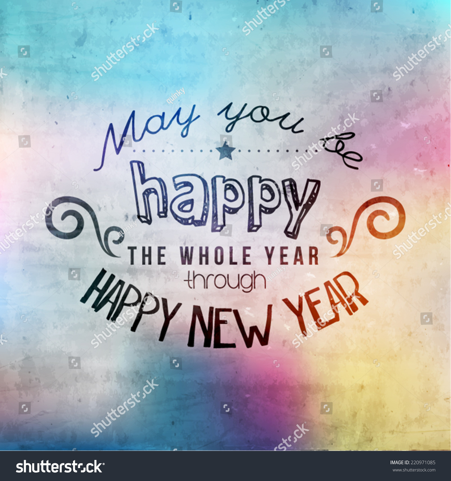 Happy new year greetings quote vector stock vector royalty free happy new year greetings quote vector design m4hsunfo