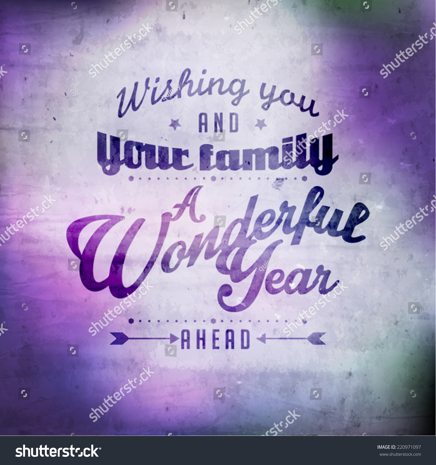 happy new year greetings quote vector design