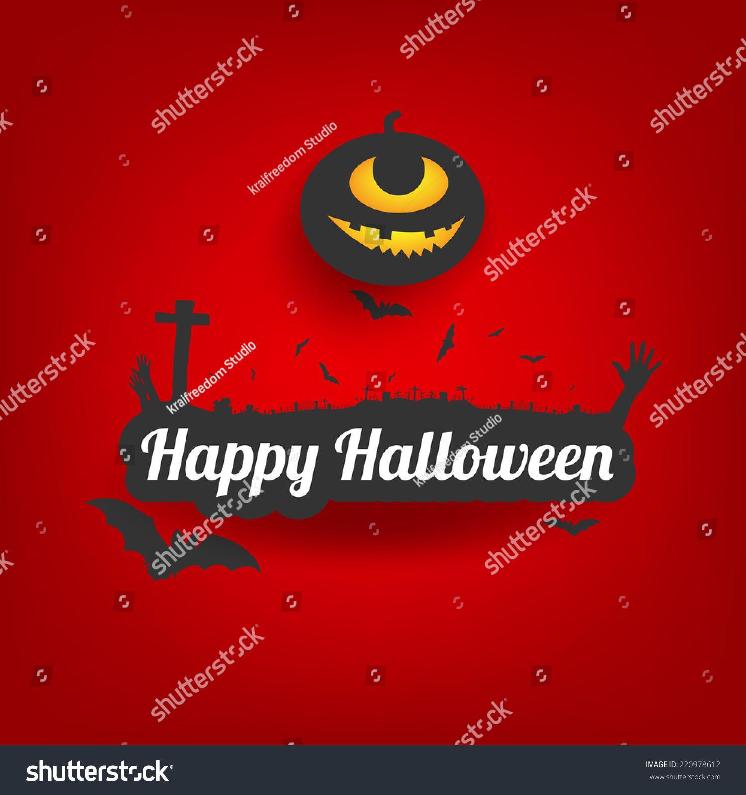 happy halloween message design backgroundcard vector stock vector
