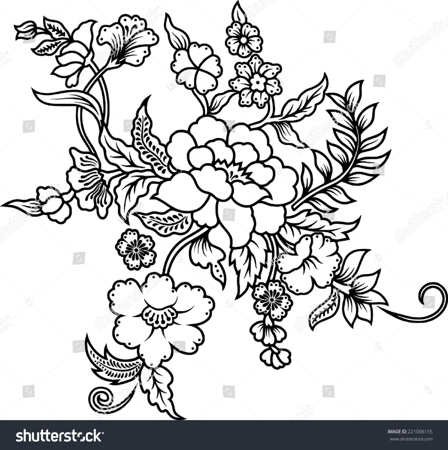 20+ Trend Terbaru Flower Batik Design Drawing