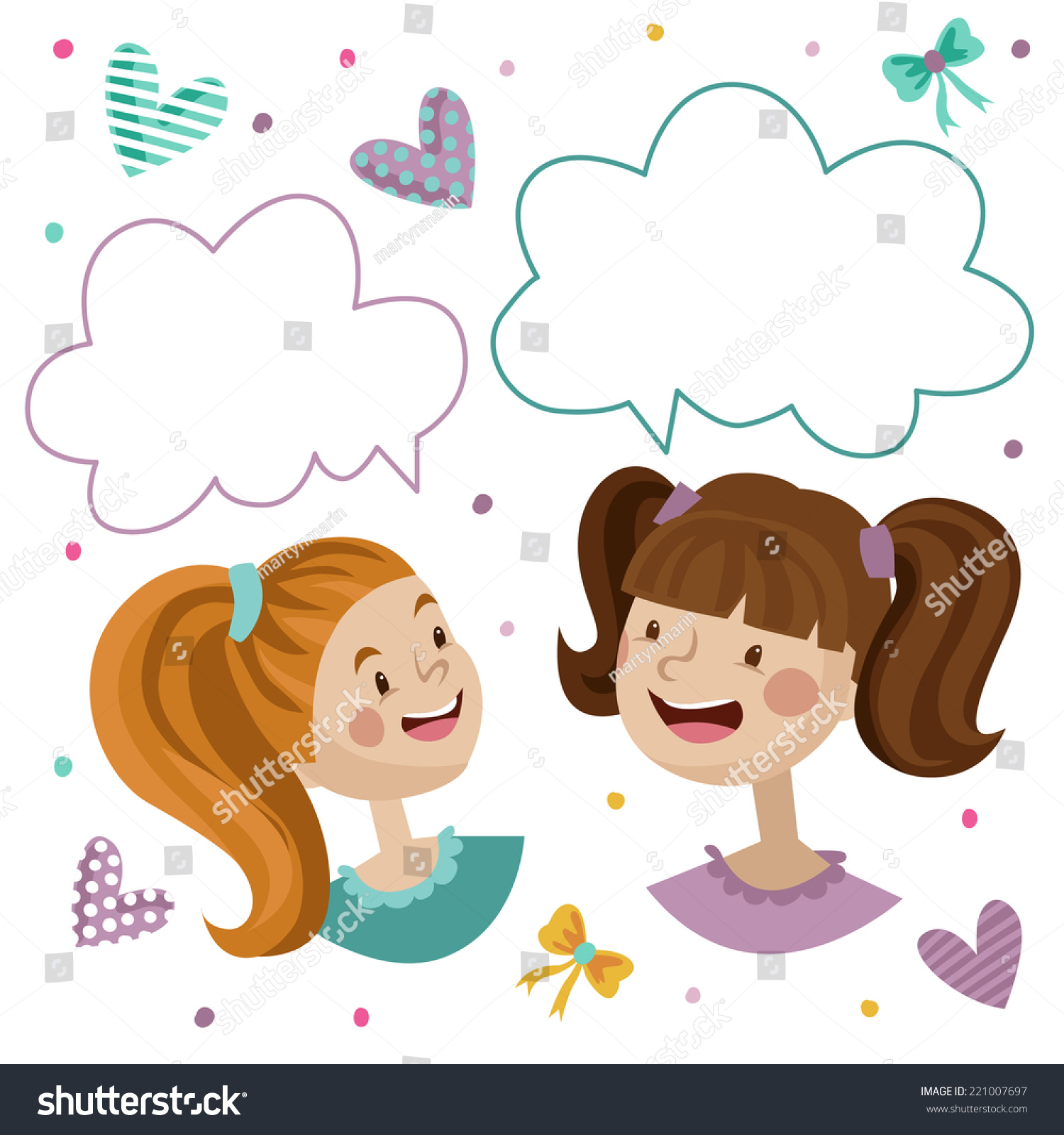 Two Children Talking Stock Images RoyaltyFree Images