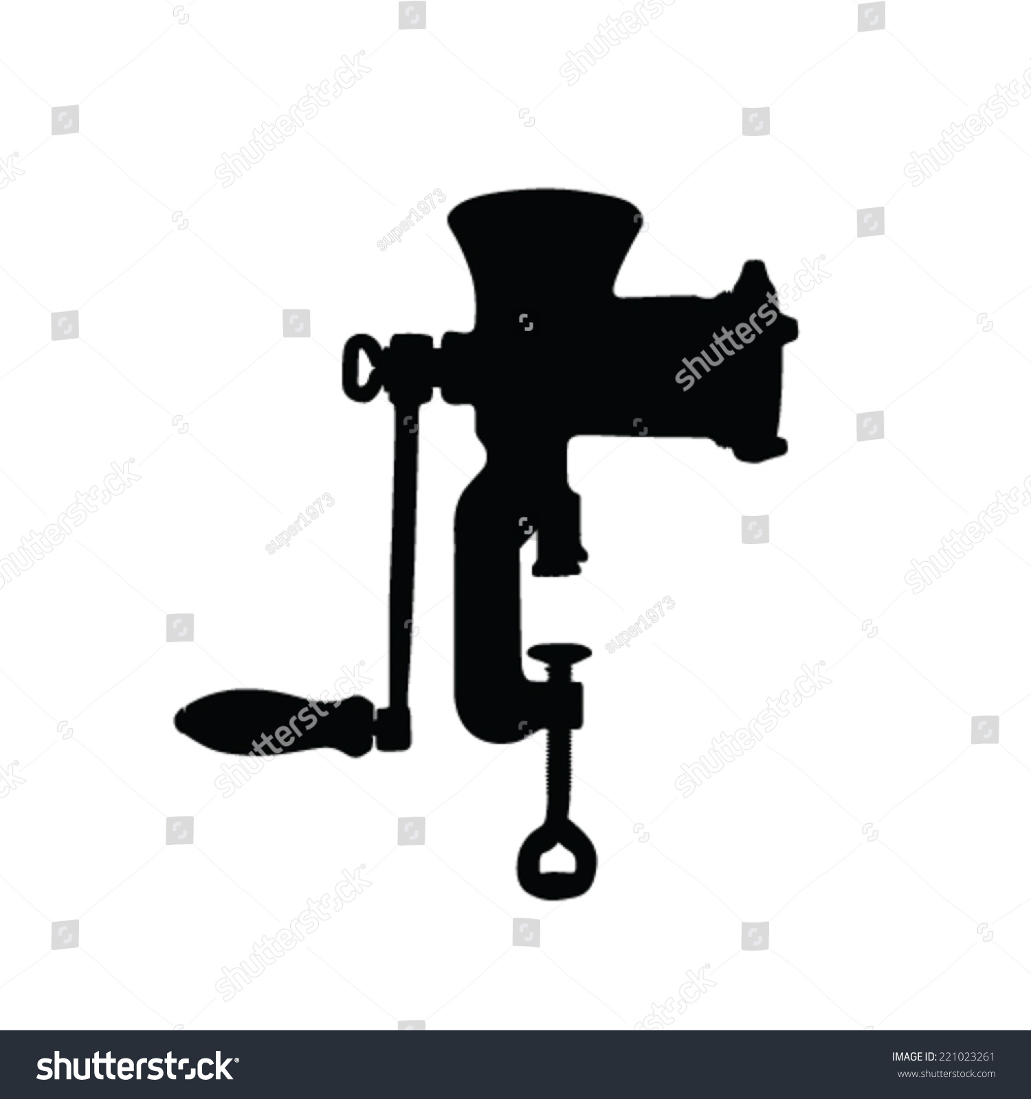 Hand Mixer Silhouette ~ Meat grinder vector silhouette stock
