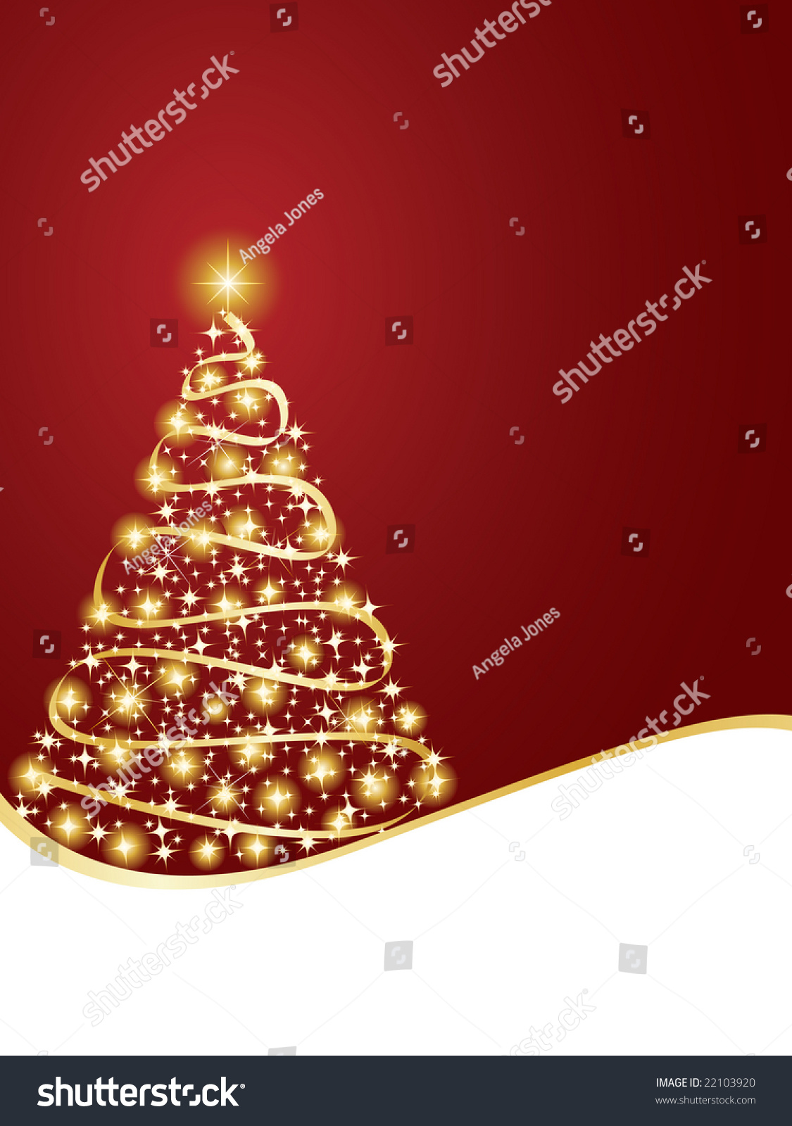Twinkly Christmas Tree Background Stock Vector 22103920 - Shutterstock