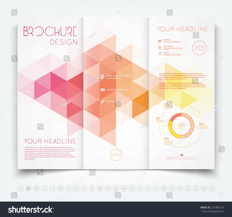 vector modern trifold brochure design template stock vector royalty