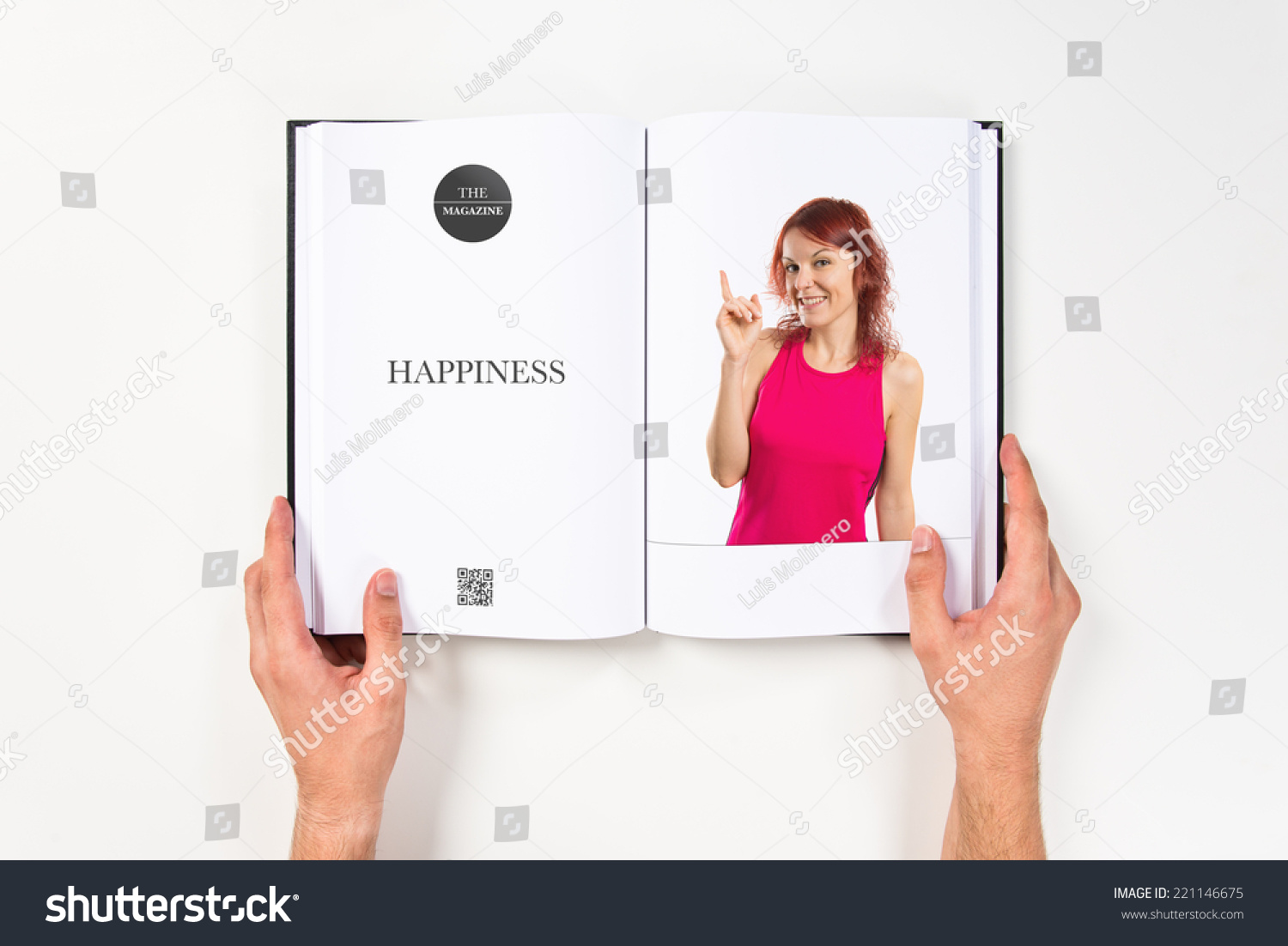 Young girl having an printed on book #221146675
