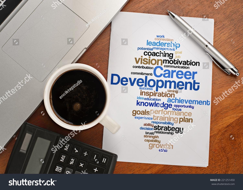 career development word cloud arrangement notebook text save to a lightbox