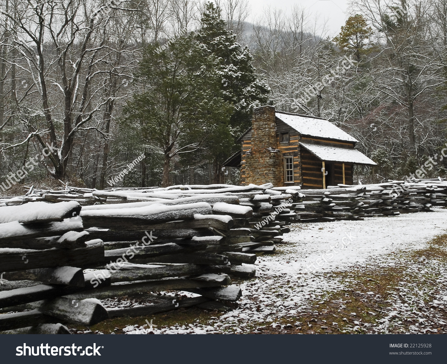 Historic Log Cabin In The Smoky Mountain National Park