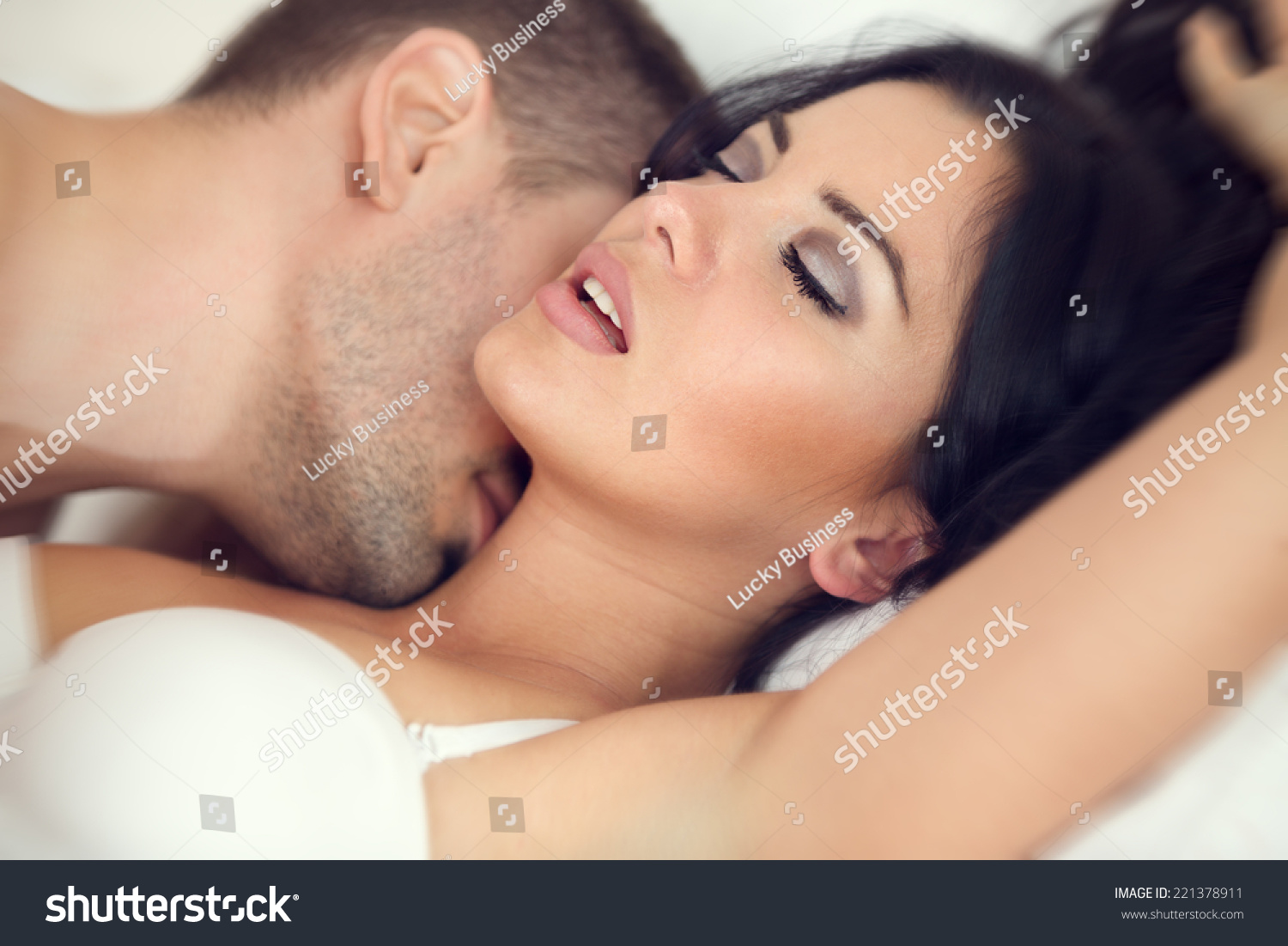 Couple making love and enjoying loads of fres