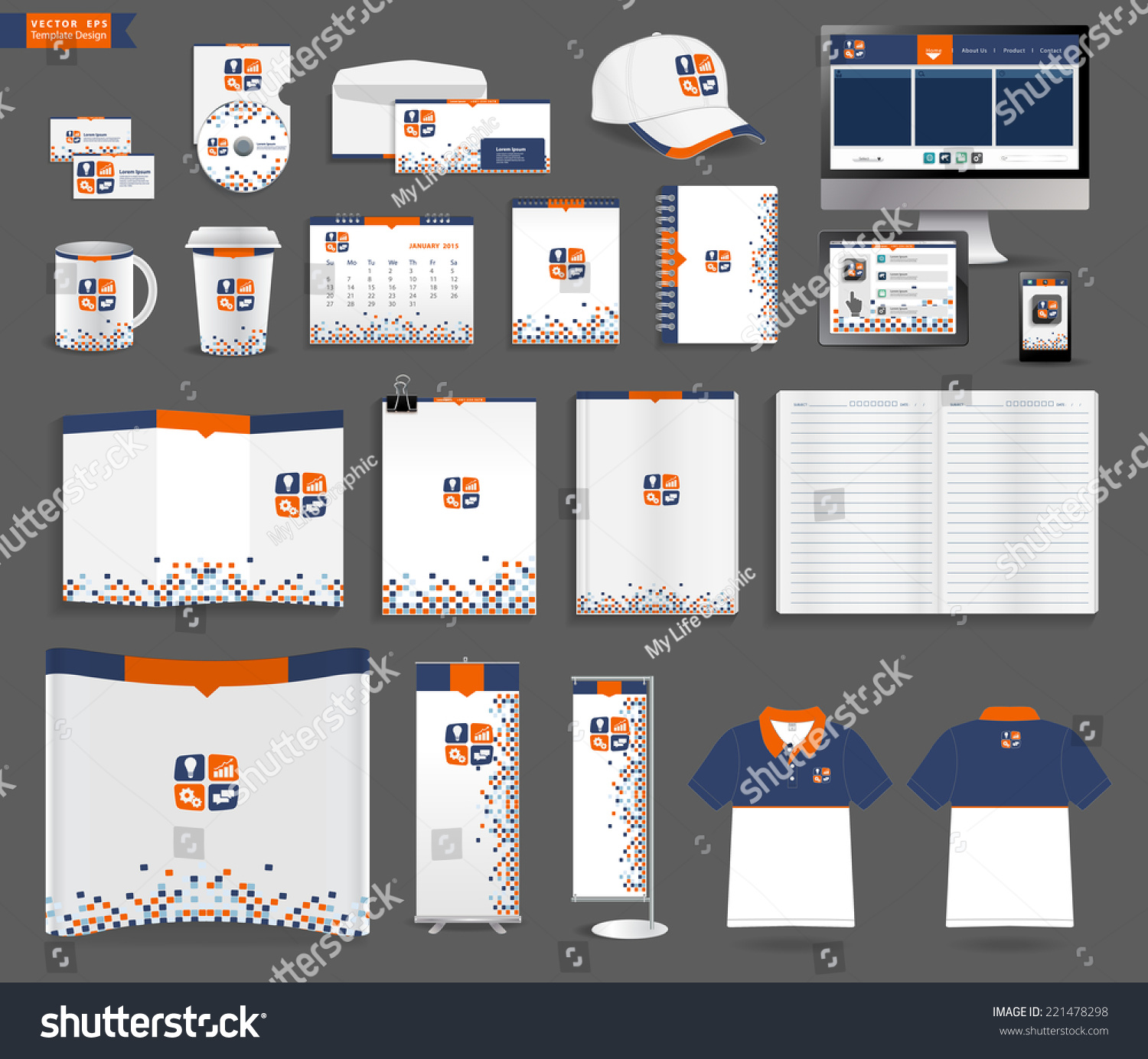 Shirt design envelope - Corporate Identity Templates With Blank Name Card Envelope Mugs Mobile Phone