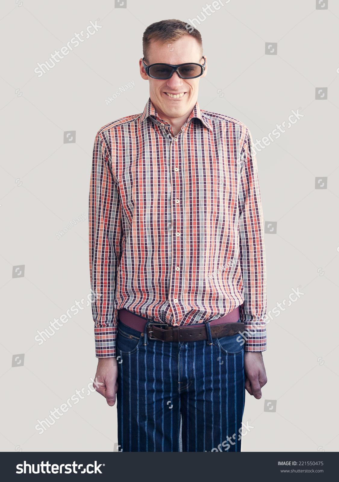 Antistyle Nerd Man Plaid Shirt Striped Stock Photo 221550475 ...