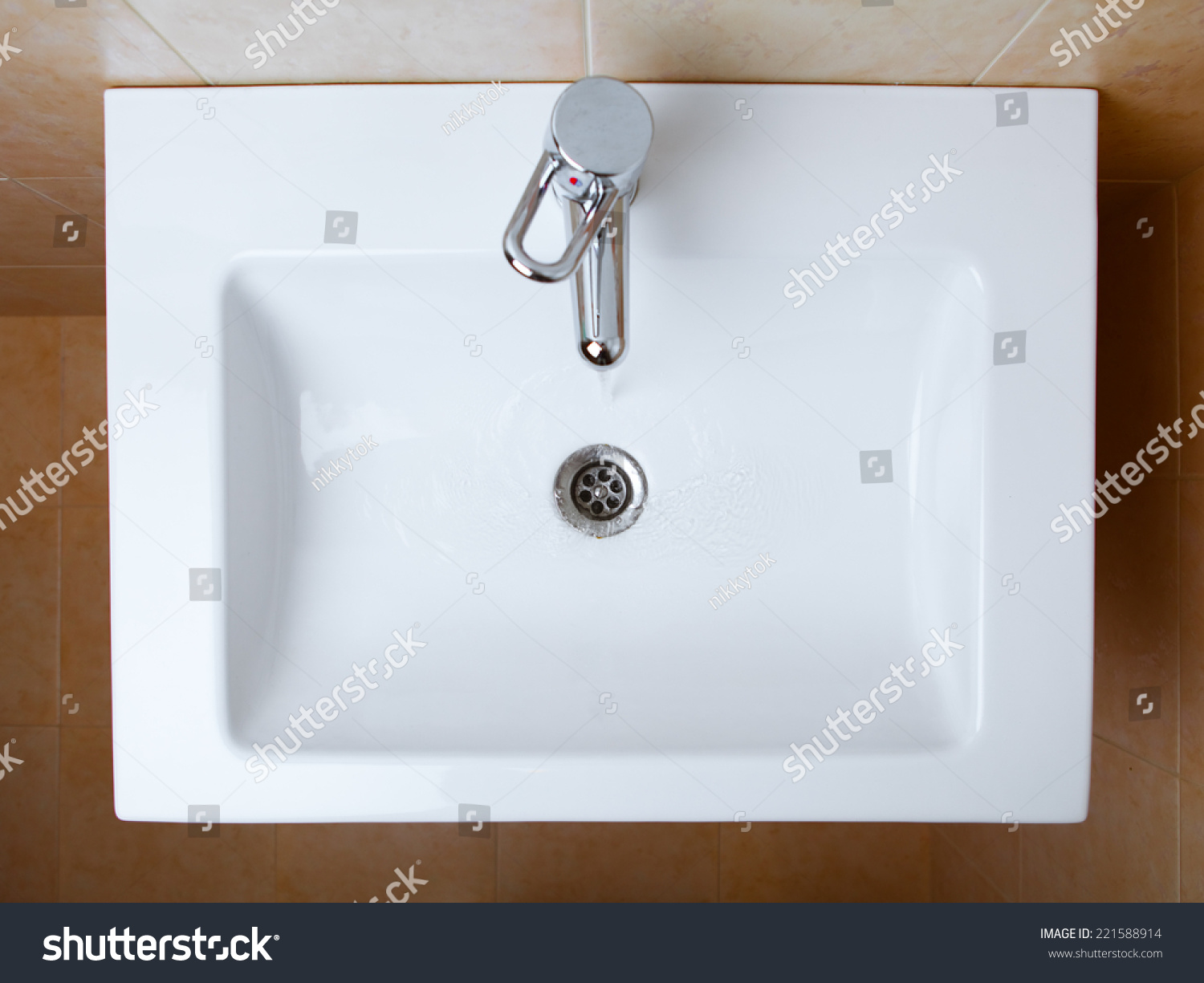 Wash sink in a bathroom top view stock photo 221588914 Top view of bathroom