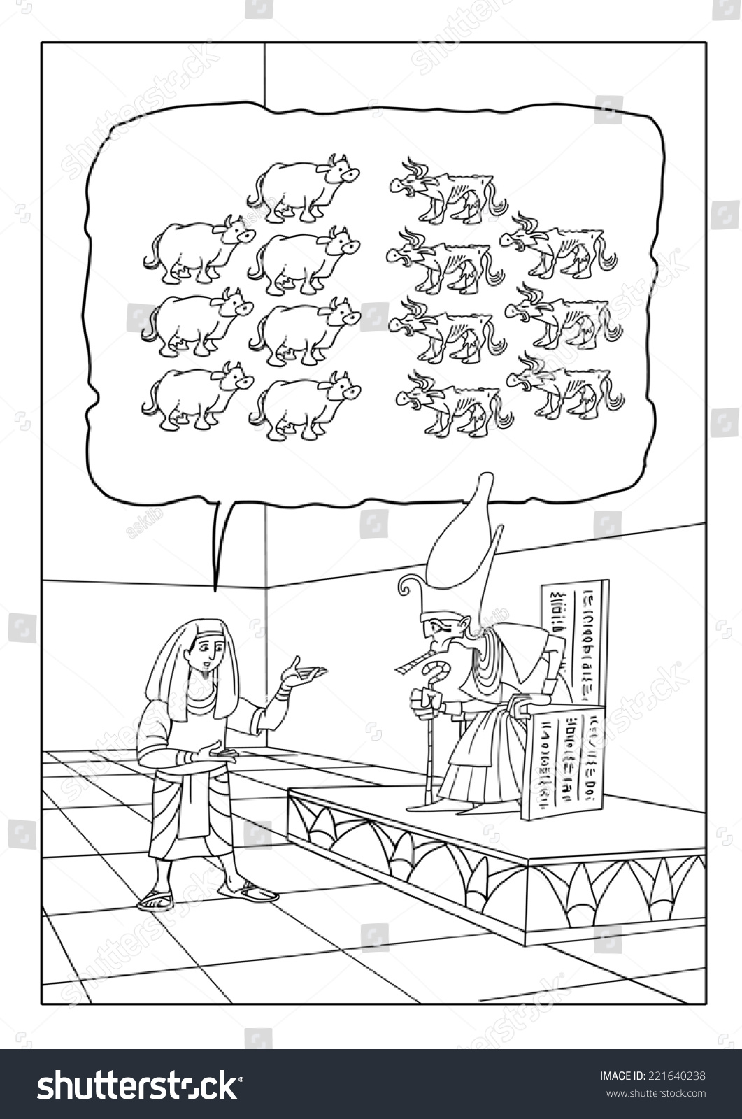joseph pharaohs dreams coloring pages - photo#10