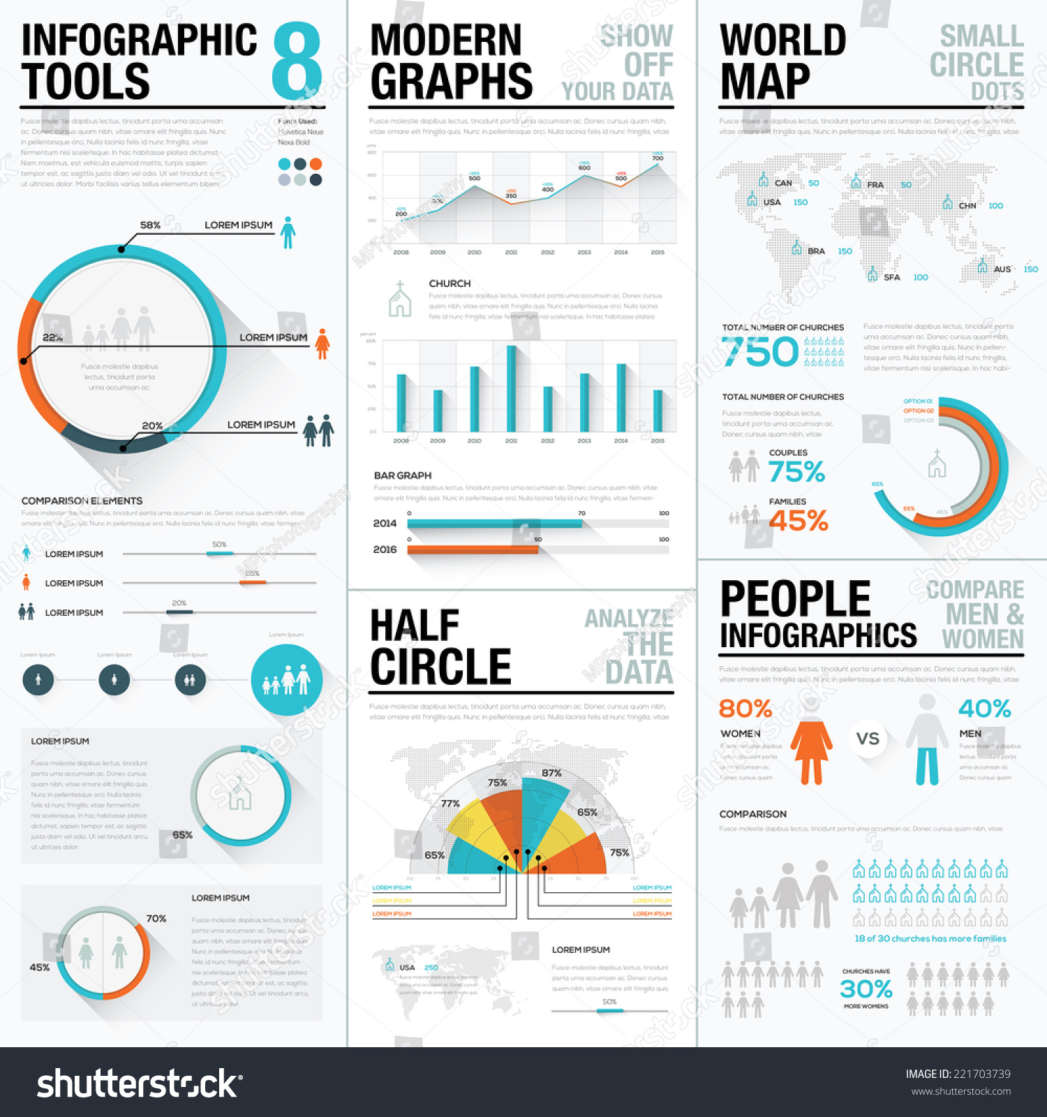 infographic tools 8 human people infographics stock vector royalty