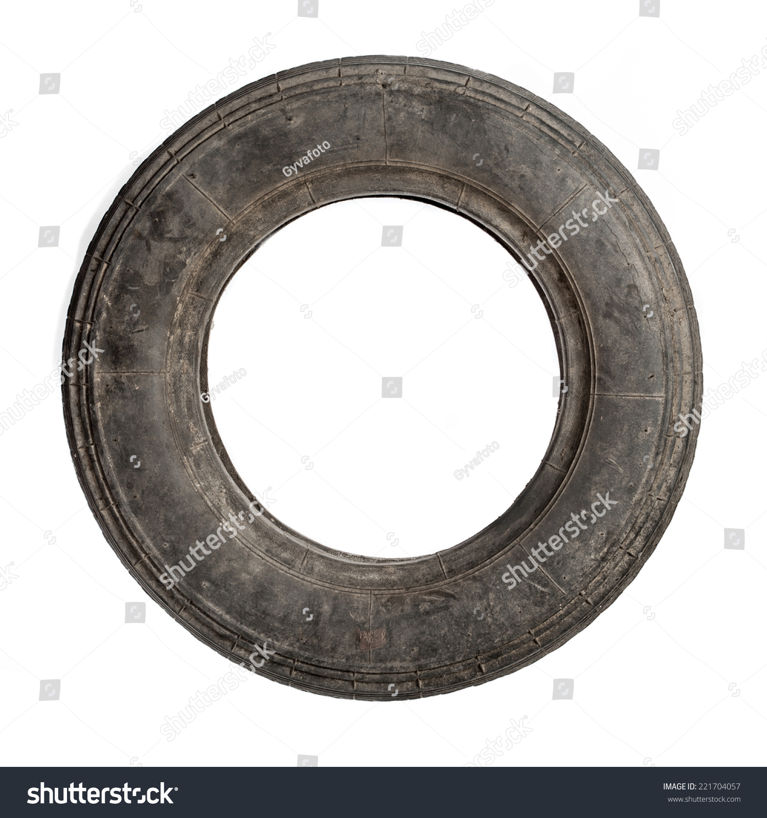 Small dirty old tire isolated over stock photo 221704057 for Old tyre uses