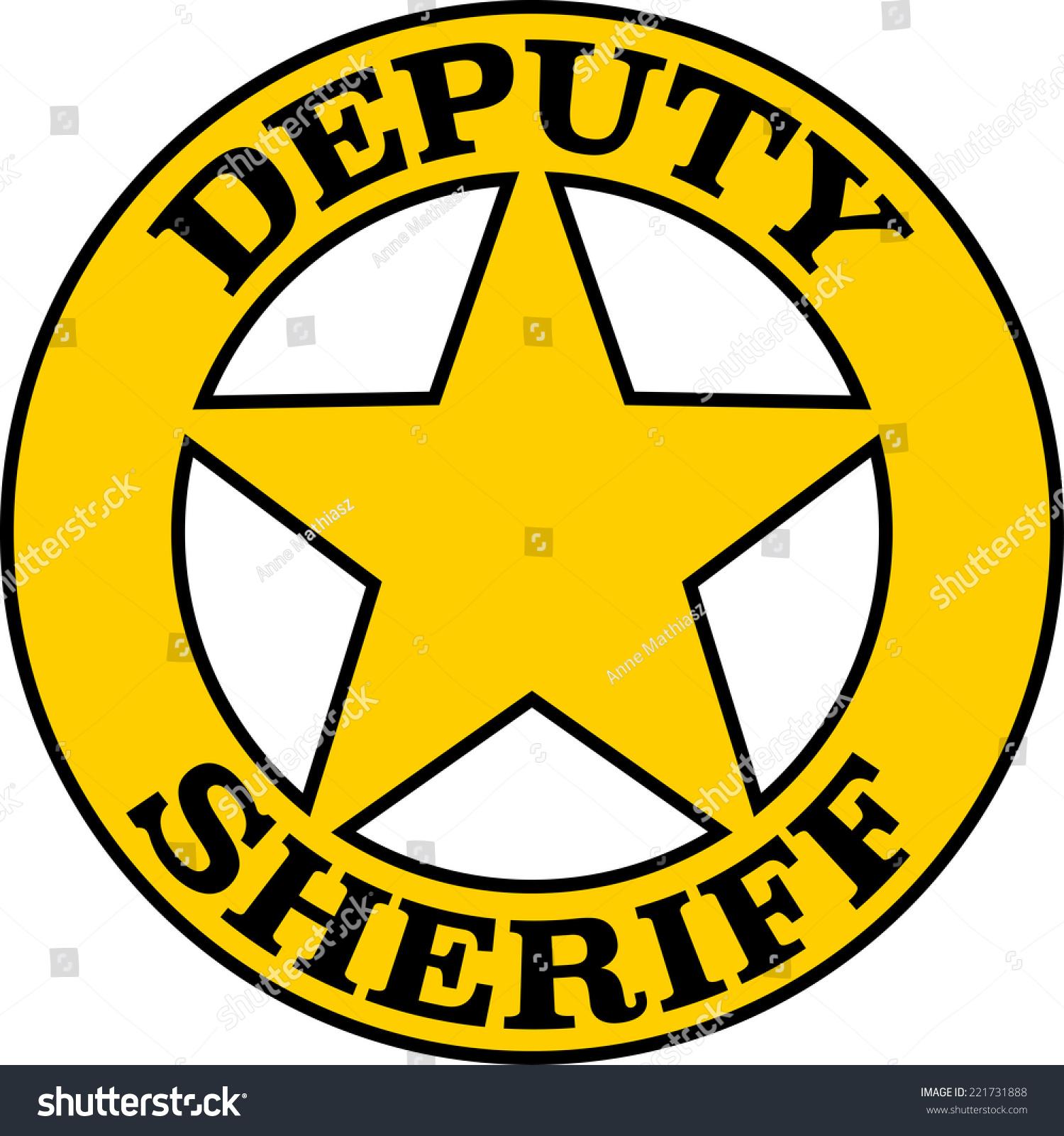 deputy sheriff badge star stock vector royalty free 221731888 rh shutterstock com sheriff badge vector black sheriff badge vector free