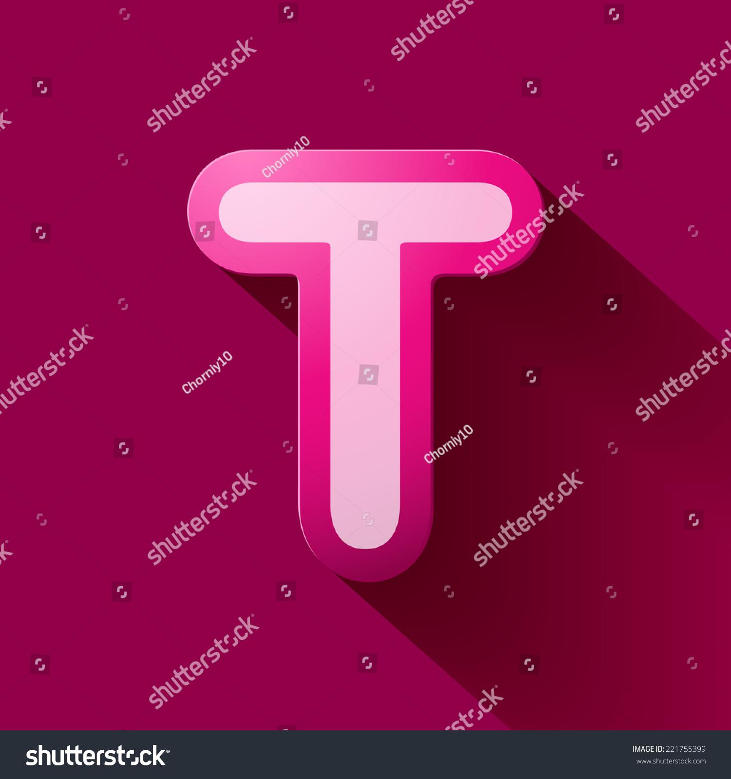 Vector colorful curvy liquid 3d volumetric letter t on black Bubble ...