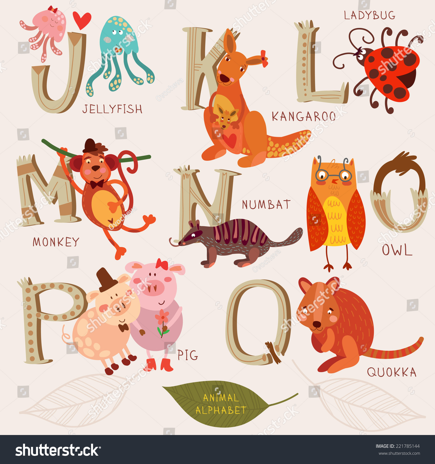 Animals With The Letter N   levelings