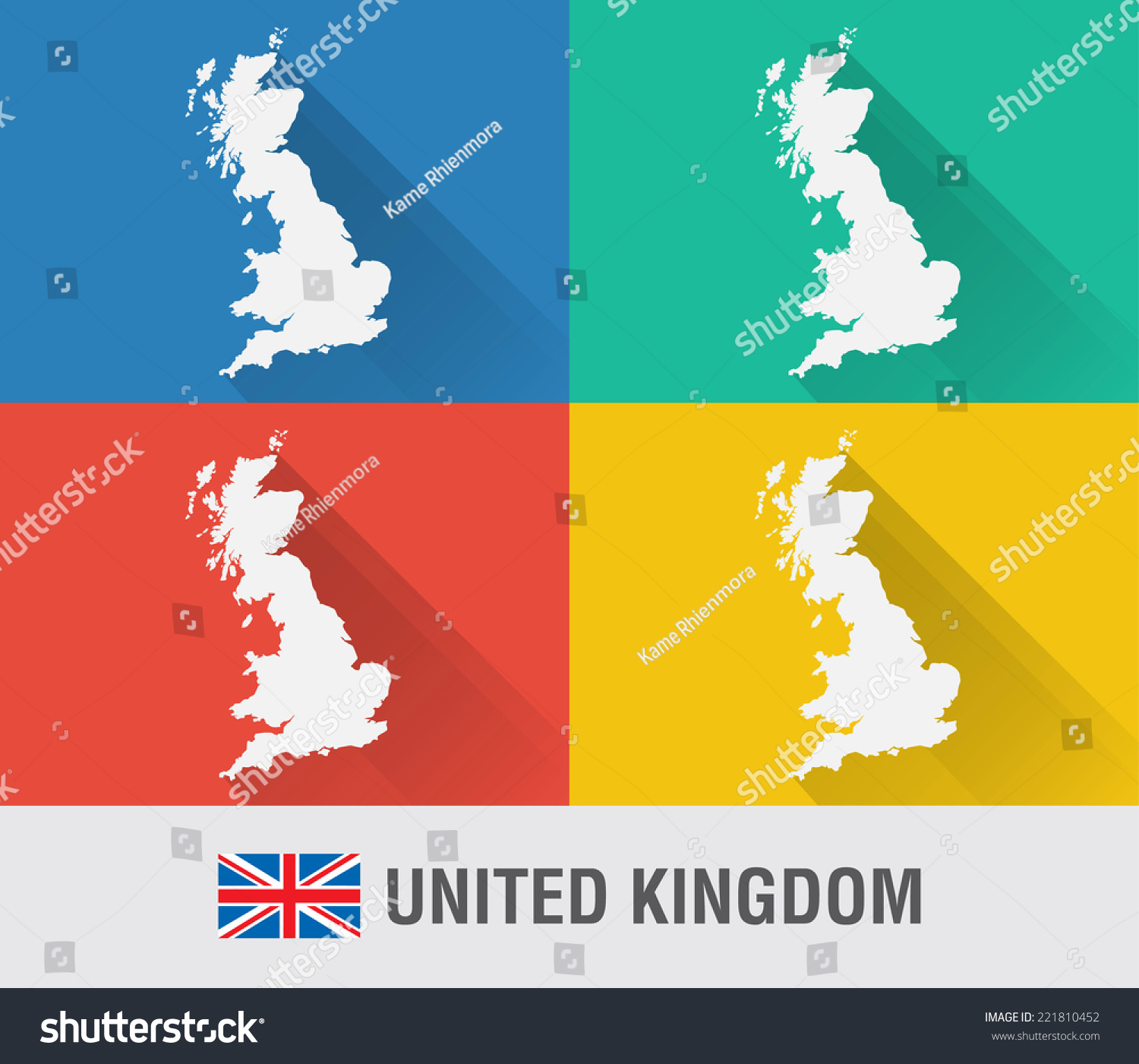 Uk england world map flat style stock vector 2018 221810452 uk england world map in flat style with 4 colors modern map design gumiabroncs Images