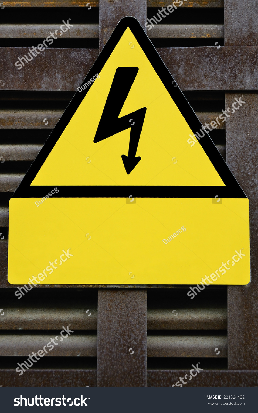 High voltage symbol metallic background stock photo 221824432 high voltage symbol with metallic background buycottarizona
