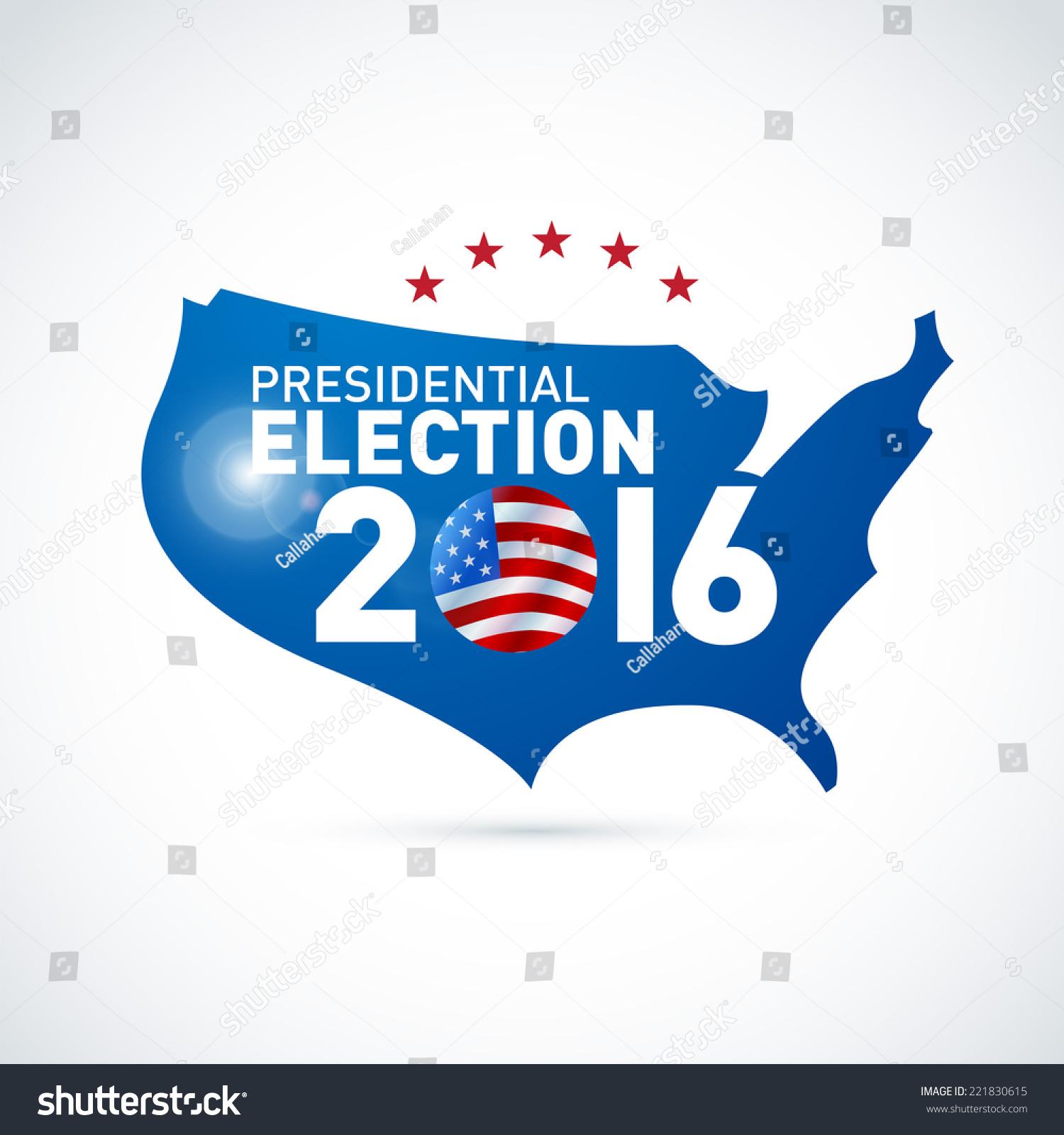 2016 usa presidential election poster eps 10 stock vector. Black Bedroom Furniture Sets. Home Design Ideas