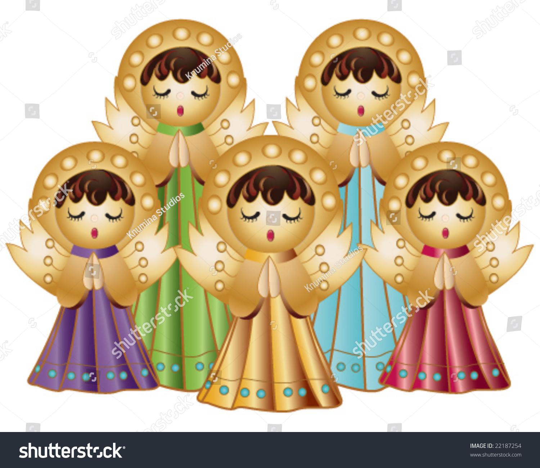 vector choir angels singing stock vector 22187254 shutterstock