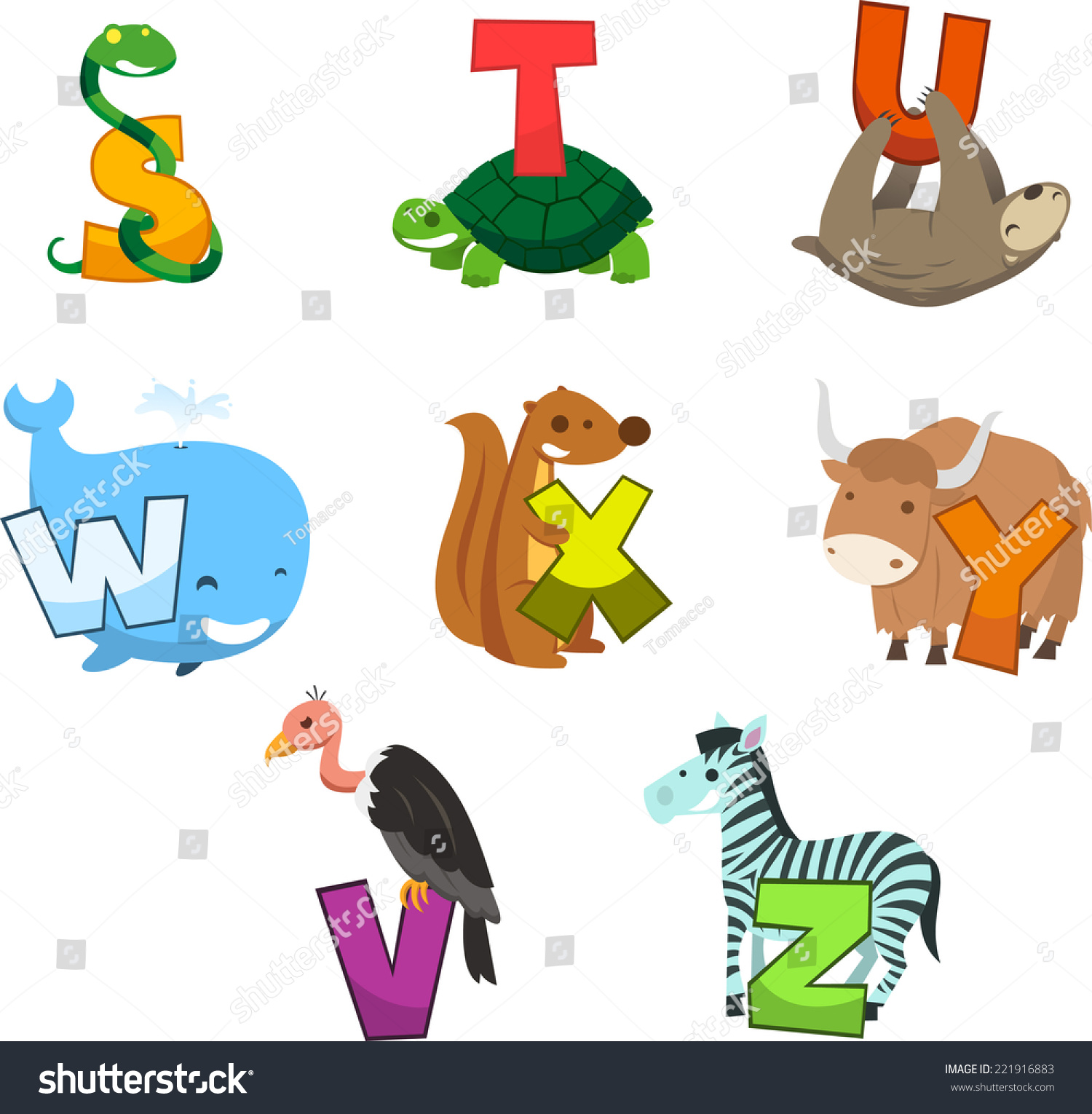 animals that start with the letter u animal alphabet letter snake turtle stock vector 20462 | stock vector animal alphabet with letter snake turtle bear whale squirrel zebra vulture letter s t u w x 221916883