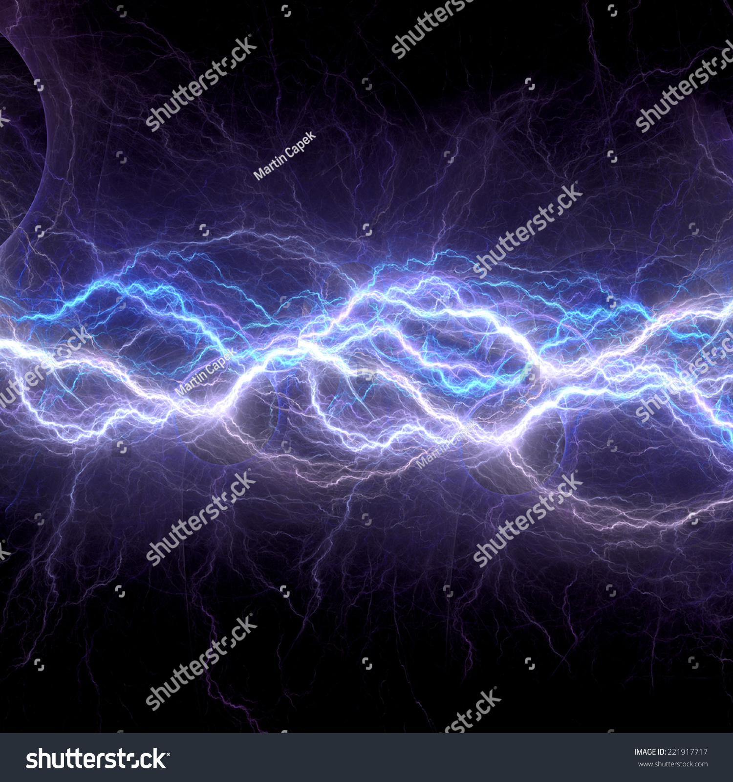 abstract blue electricity - photo #19