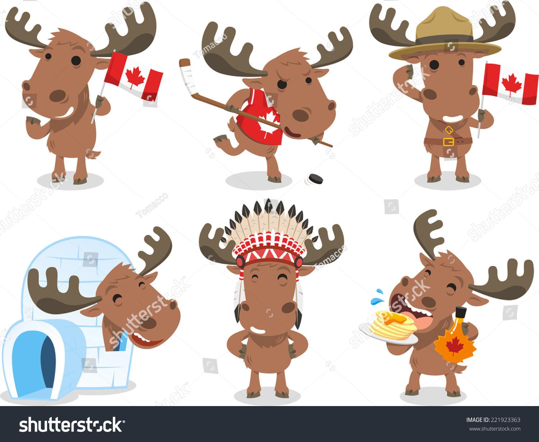 cartoon canadian moose