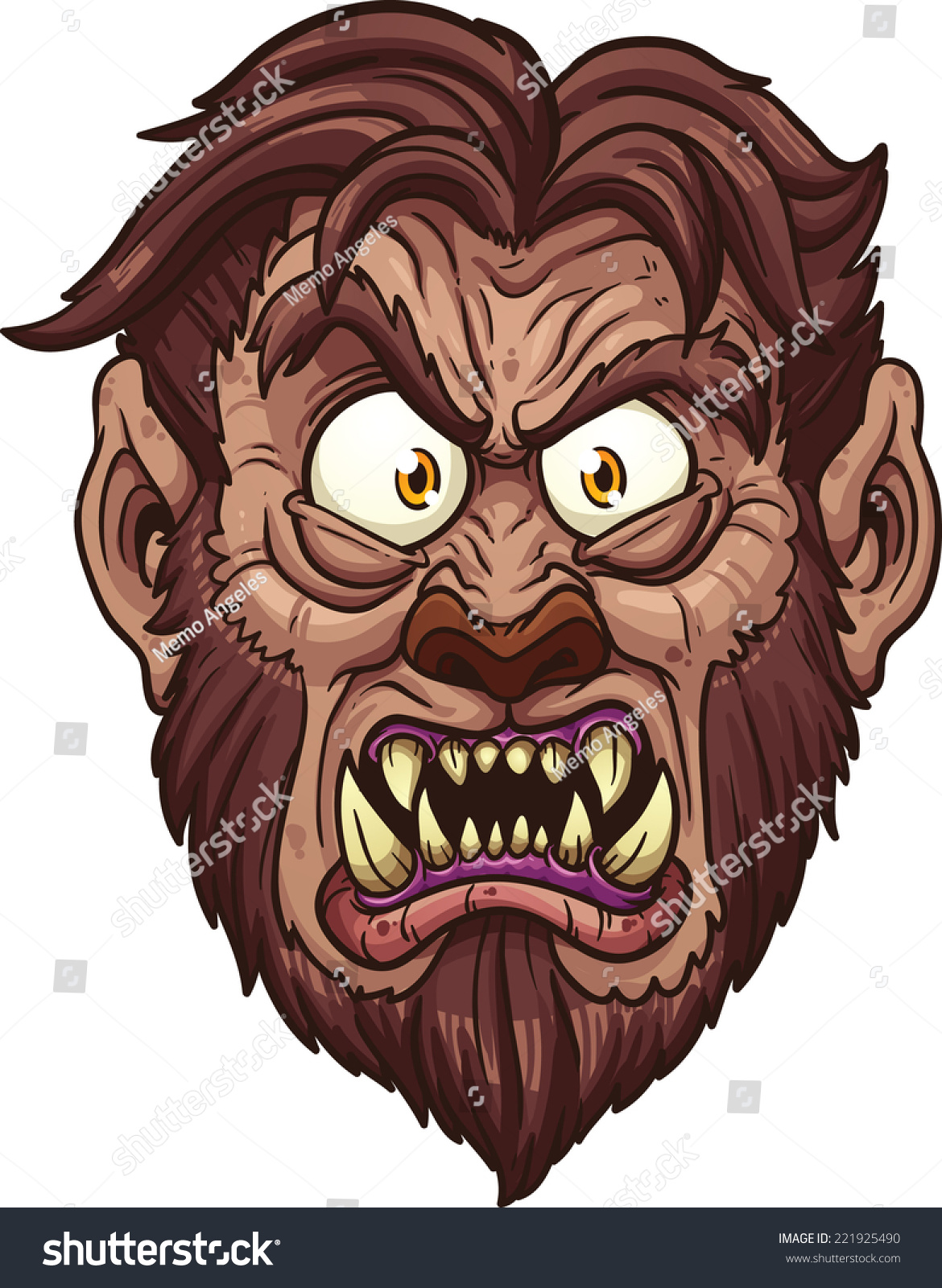 angry werewolf face-#7