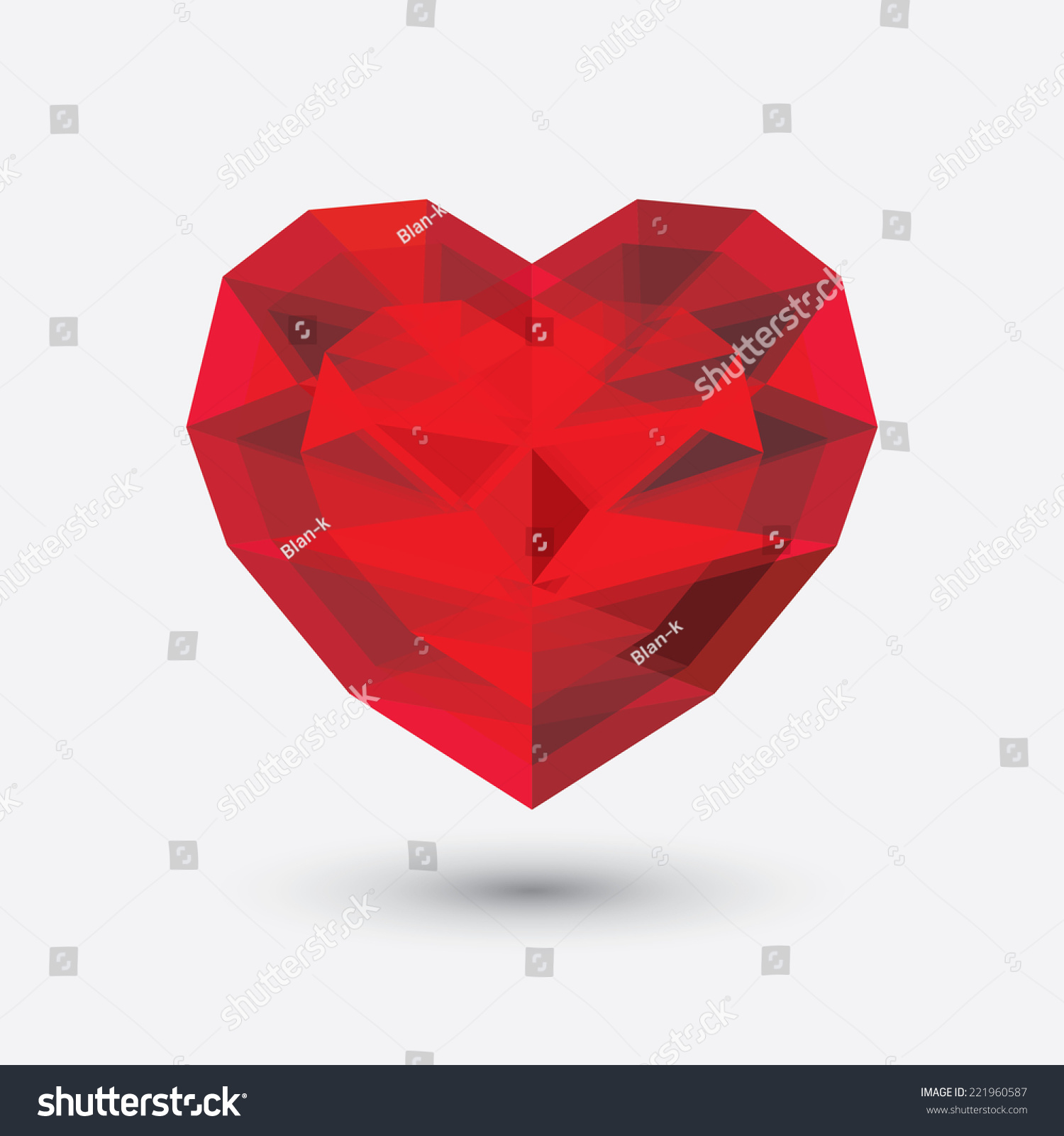 Vector heart geometric