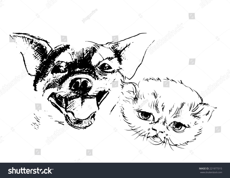 Happy Dog Sketch