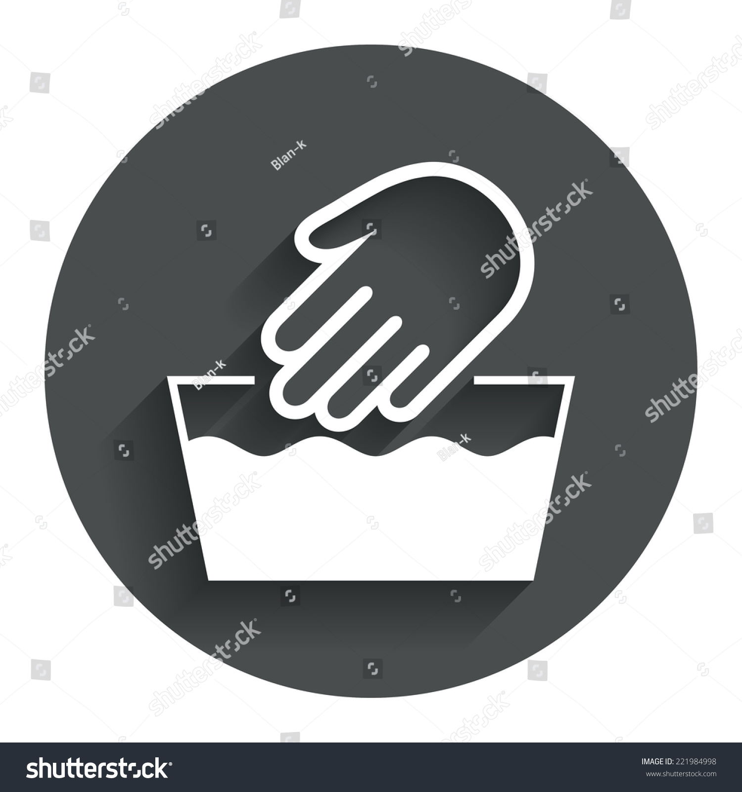 Hand Wash Sign Icon Not Machine Stock Vector Royalty Free