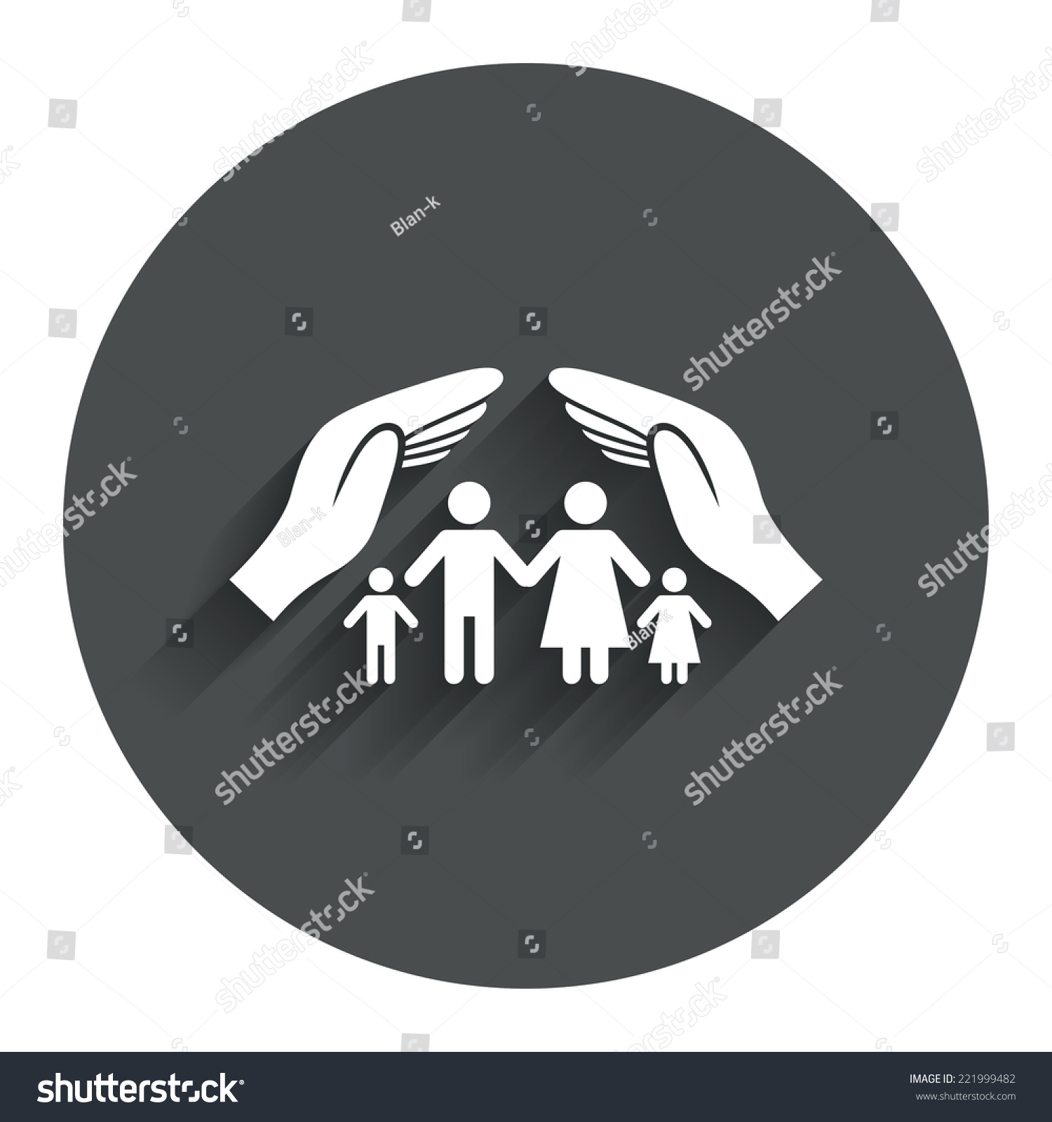 Family Life Insurance Sign Icon Hands Stock Vector ...