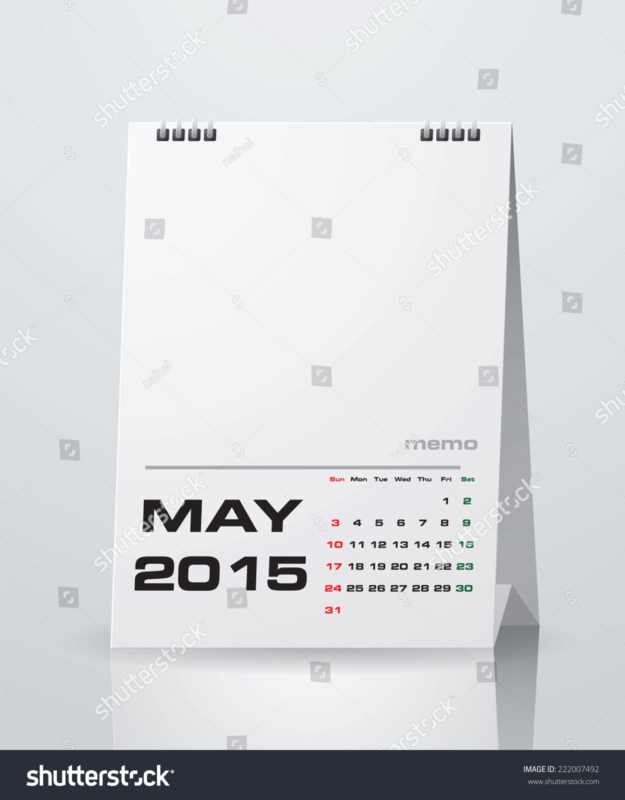 Simple 2015 Year Vector Calendar With Free Space For Your Sample Text : May  2015
