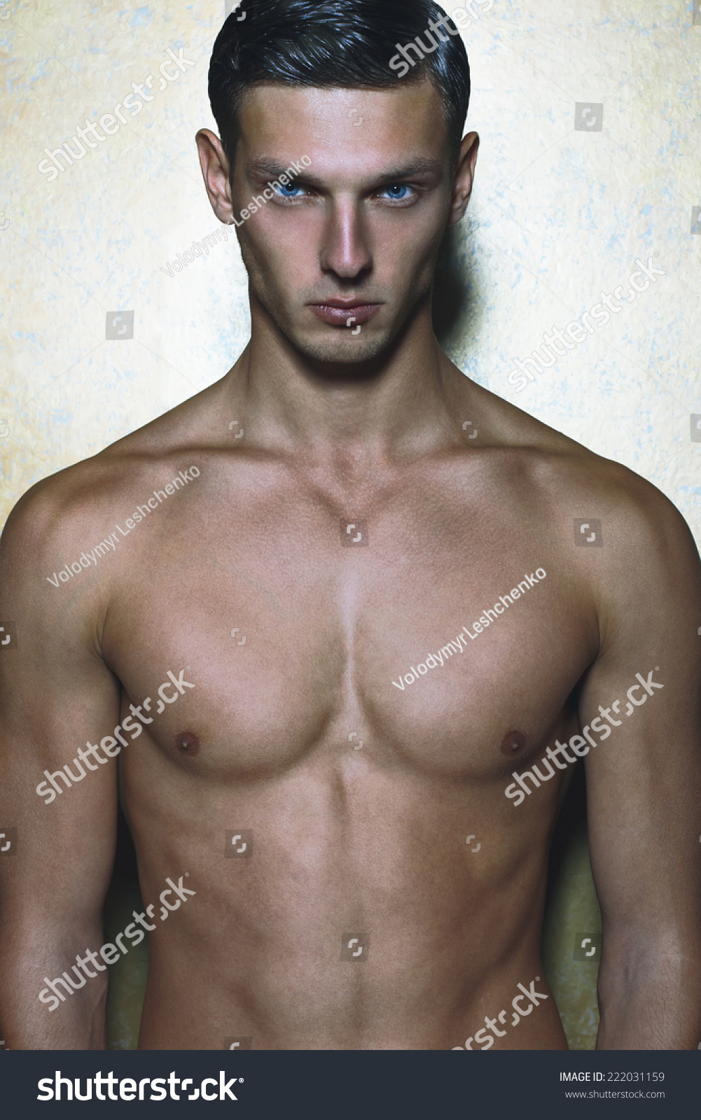 Male Beauty Concept Portrait Fashionable Undressed Stock Photo Edit