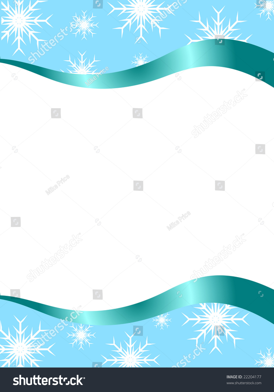christmas stationary with top and bottom christmas borders with room for a letter stock photo