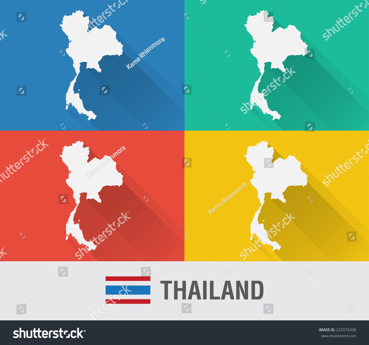 Thailand world map flat style 4 vectores en stock 222072430 thailand world map in flat style with 4 colors modern map design gumiabroncs